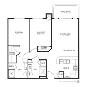 Legacy Independent Living, Iowa City, IA, 2 Bed / 2 Bath Floor Plan - Connecticut