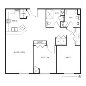 Legacy Independent Living, Iowa City, IA, 2 Bed / 2 Bath Floor Plan - Hoover