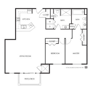 Legacy Independent Living, Iowa City, IA, 2 Bed / 2 Bath Floor Plan - Jefferson
