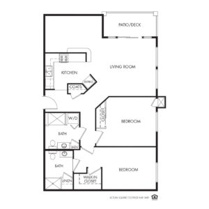 Legacy Independent Living, Iowa City, IA, 2 Bed / 2 Bath Floor Plan - Pennsylvania