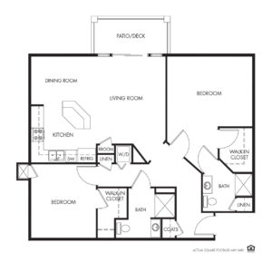 Legacy Independent Living, Iowa City, IA, 2 Bed / 2 Bath Floor Plan - Virginia