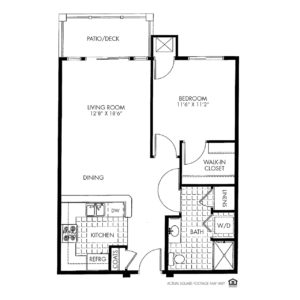 Silvercrest at Garner Independent Living, Davenport, IA, 1 Bedroom Floor Plan - Aurora II