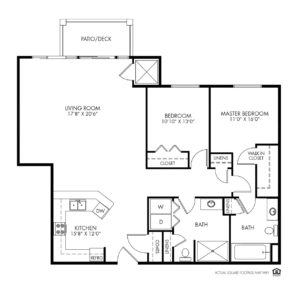 Silvercrest at Garner Independent Living, Davenport, IA, 2 Bedroom Floor Plan - Grand II