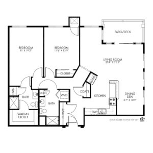 The Fountains Independent Living, Bettendorf, IA, 2 Bed Room Floor Plan - Eagle