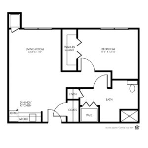 Whispering Creek Assisted Living,Sioux City, IA, 1 Bedroom Floor Plan - Aurora
