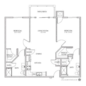Whispering Creek Independent Living,Sioux City, IA, 2 Bedroom Floor Plan - Scottsdale