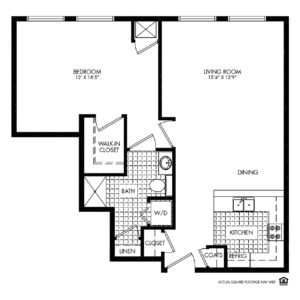Woodlands Creek Independent Living, Clive, IA, 1 Bed Room Floor Plan - Jackson