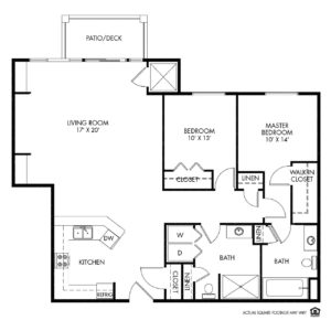 Woodlands Creek Independent Living, Clive, IA, 2 Bed Room Floor Plan - Mckinley