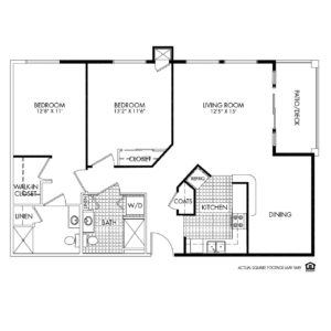 Woodlands Creek Independent Living, Clive, IA, 2 Bed Room Floor Plan - Adams