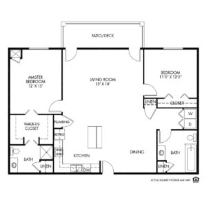 Woodlands Creek Independent Living, Clive, IA, 2 Bed Room Floor Plan - Eisenhower