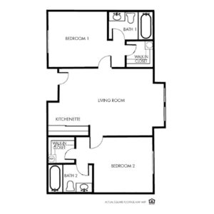 Independence Independent Living, Peoria, Il, Large 2 Bed Floor Plan