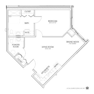 Overlook Village Assisted Living, Moline, IL, 1 Bedroom Floor Plan - Prospect