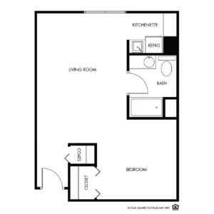 Willow Falls Assisted Living, Crest Hill, IL, 1 Bed Floor Plan - Daisy