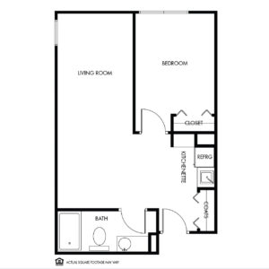 Willow Falls Assisted Living, Crest Hill, IL, 1 Bed Floor Plan - Tulip