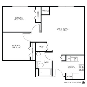 Willow Falls Independent Living, Crest Hill, IL, 2 Bed Room Floor Plan - Jasmine