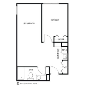 Willow Falls Memory Care, Crest Hill, IL, 1 Bed Floor Plan - Sunflower