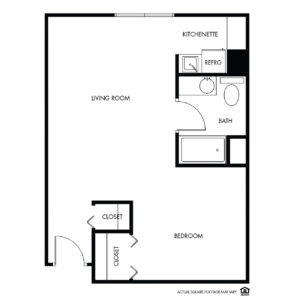 Willow Falls Memory Care, Crest Hill, IL, 1 Bed Floor Plan - Violet