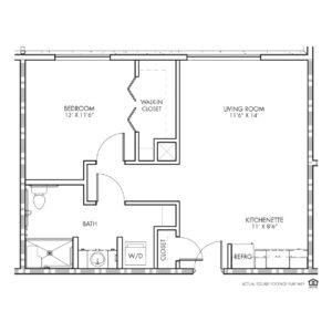 Silvercrest Assisted Living, Lenexa, KS, 1 Bed Room Floor Plan - Swope Park