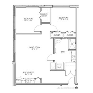 Silvercrest Assisted Living, Lenexa, KS, 2 Bed Room Floor Plan - Truman