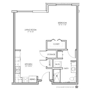 Silvercrest Independent Living, Lenexa, KS, 1 Bed Room Floor Plan - Brookside