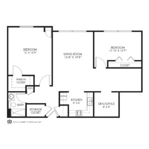 Silvercrest at Deer Creek Independent Living, Overland Park, KS, 2 Bedroom Floor Plan - Birch