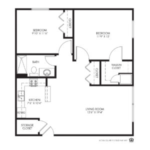 Silvercrest at Deer Creek Independent Living, Overland Park, KS, 2 Bedroom Floor Plan - Oak