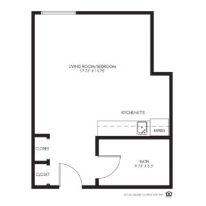 Silvercrest at Deer Creek Independent Living, Overland Park, KS, Studio Floor Plan