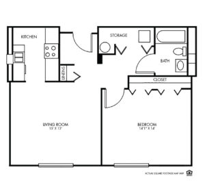 The Montclair Independent Living, Valley, NE, 1 Bed Floor Plan