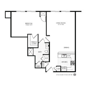 Elk Ridge Independent Living, Elkhorn, NE, Catalina 1 Bed Floor Plan