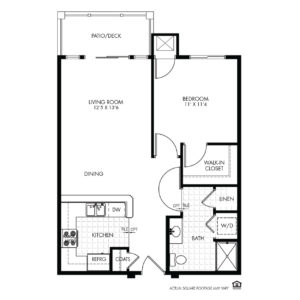 Elk Ridge Independent Living, Elkhorn, NE, Clarion 1 Bed Floor Plan