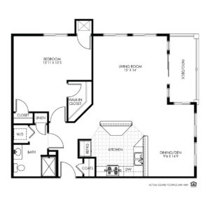 Elk Ridge Independent Living, Elkhorn, NE, Vienna 1 Bed Floor Plan