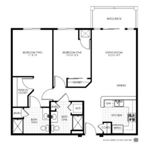 Elk Ridge Independent Living, Elkhorn, NE, Galliano 2 Bed Floor Plan